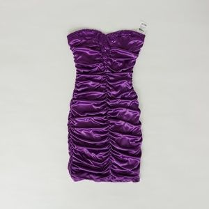 NWT Ruched Purple Cocktail Dress